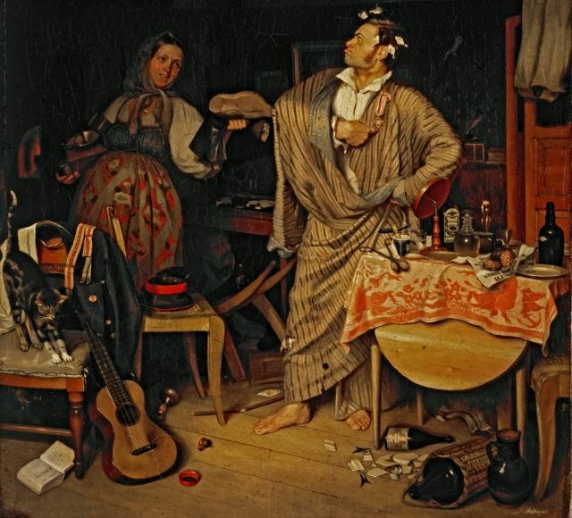 Павел Андреевич Федотов. Свежий кавалер. 1846