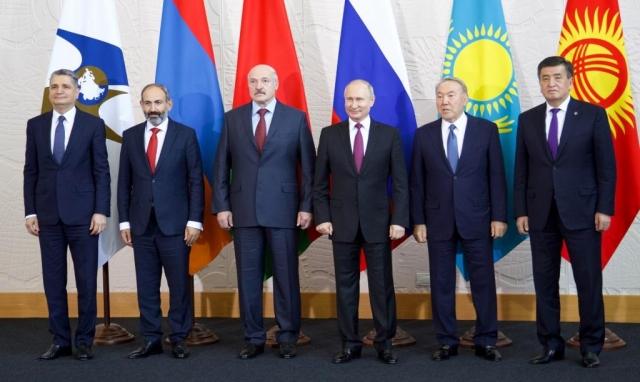 Лидеры стран-членов ЕАЭС. Сочи. 2018