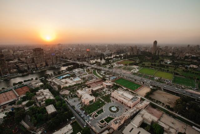 Вид на центр Каира с телевизионной башни