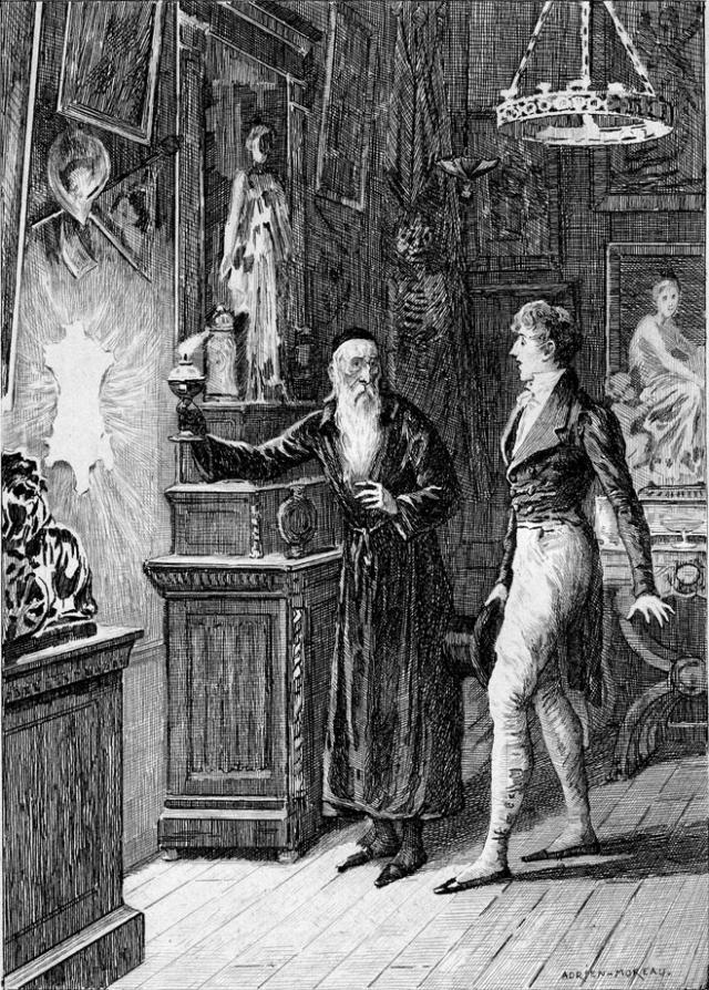 Адриан Моро. Иллюстрация в книге О. Бальзака «Шагреневая кожа». XIX