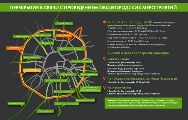 В Москве перекроют движение в поддержку развития велоинфраструктуры