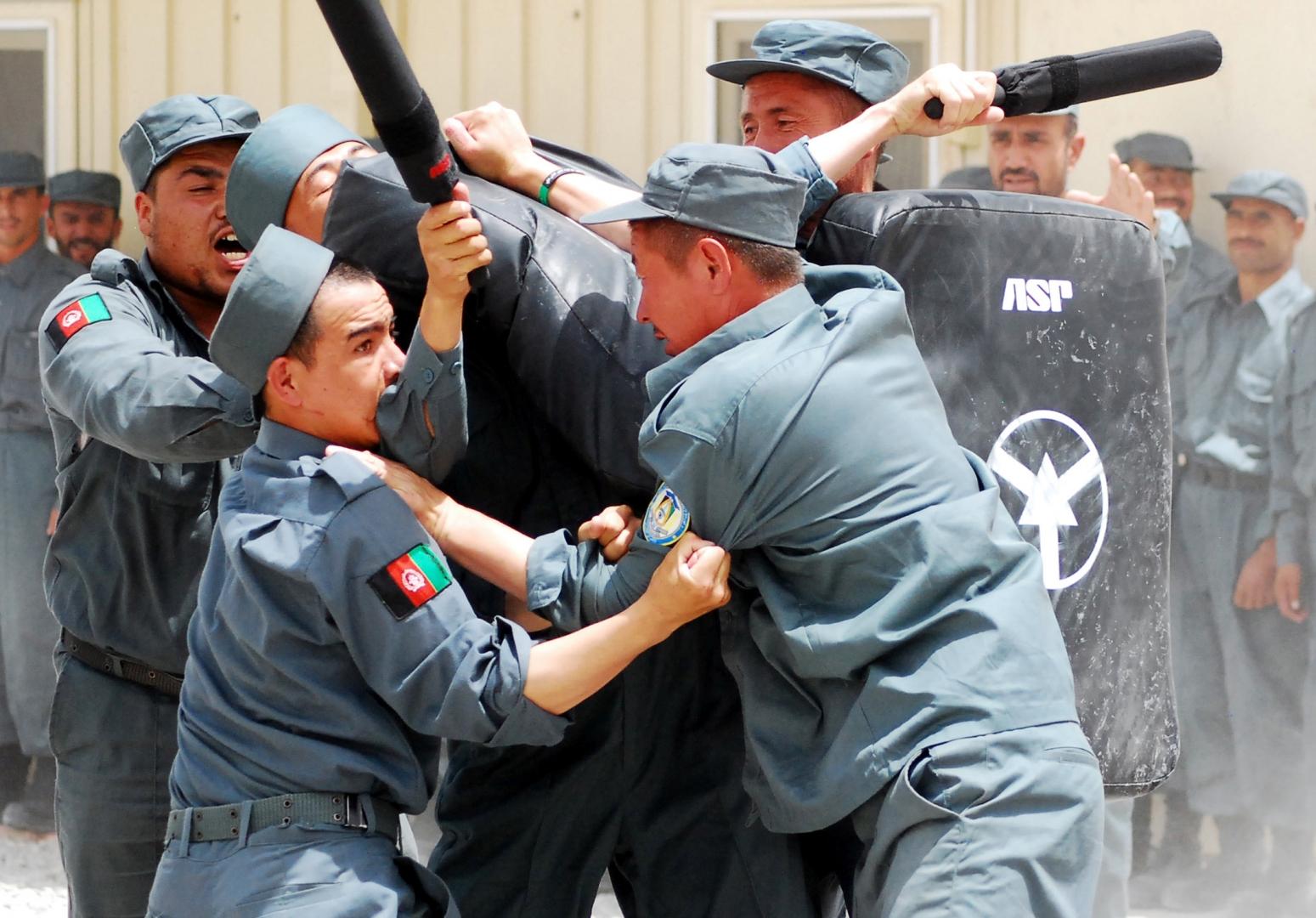 Афганские полицейские на учениях