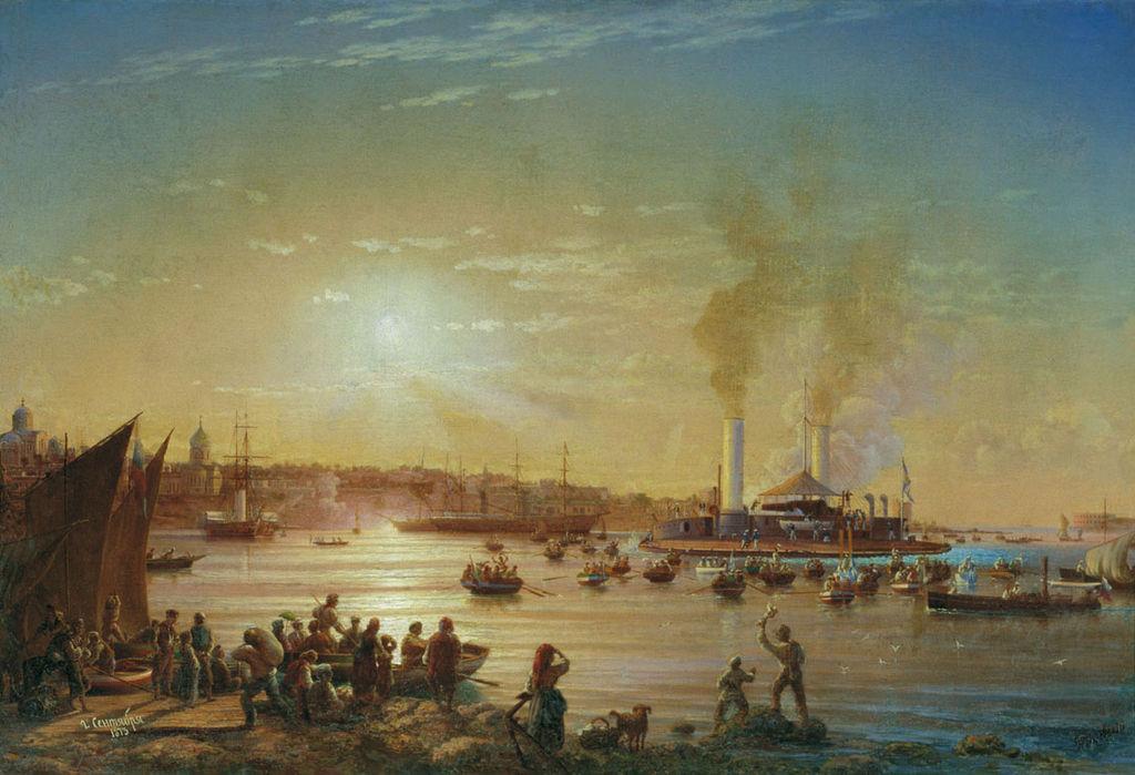Николай Красовский. Прибытие поповки «Новгород» в Севастополь. 1873
