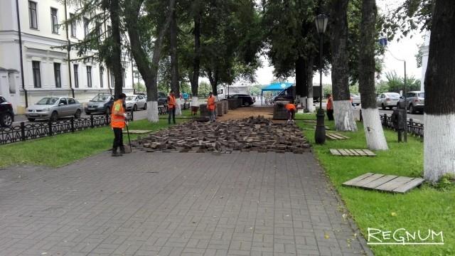 Мэрия Ярославля скрывает судьбу серой плитки из центра города