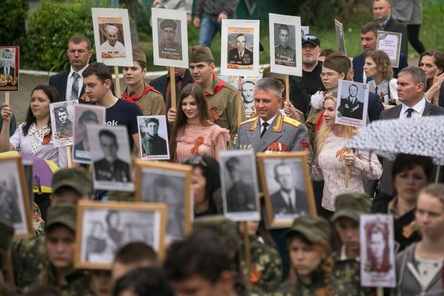 Вадим Красносельский прошел в рядах «Бессмертного полка»