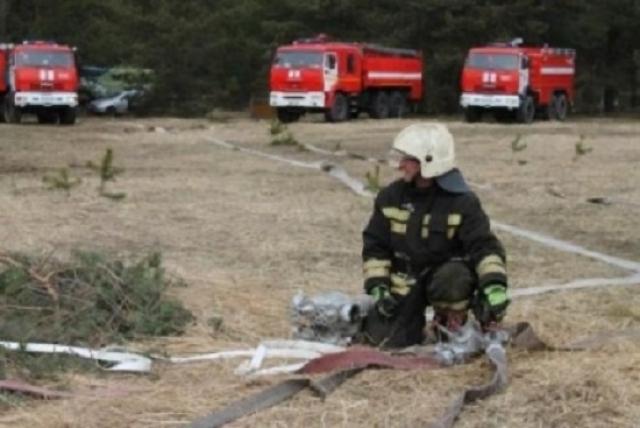 От посёлка вспыхнул лес: крупный пожар на Урале