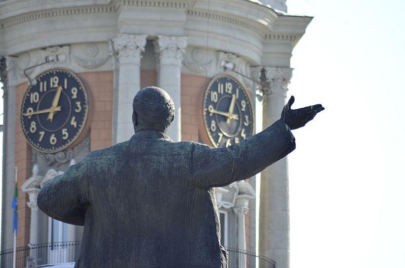 Памятник Ленину на площади 19̈05 года. Екатеринбург