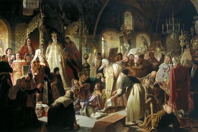 Василий Перов. Никита Пустосвят. Спор о вере. 1881