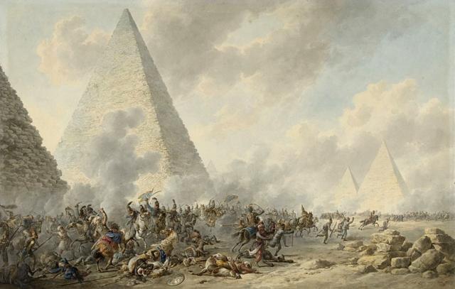 Дирк Лангендик. Битва у пирамид