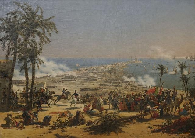 Жан-Леон Жером. Битва при Абукире 25 июля 1799 года. 1804