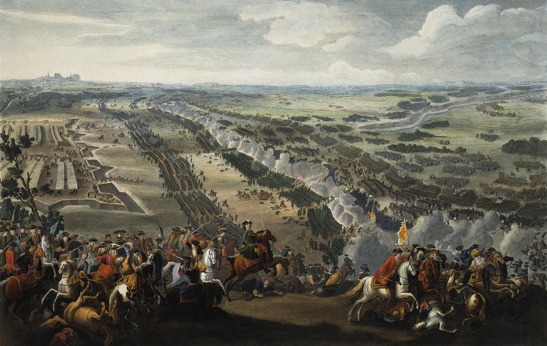 Пьер Мартин. Битва под Полтавой. 1726