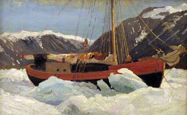 Александр Борисов. Судно во льдах. Яхта Мечта. 1899