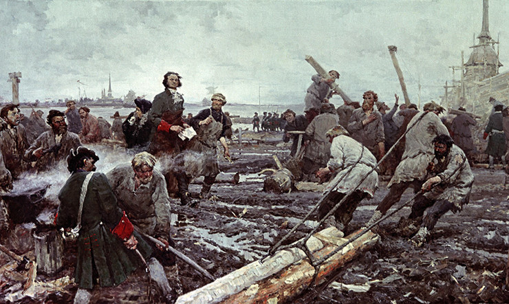 Георгий Песис. Строительство Санкт-Петербурга
