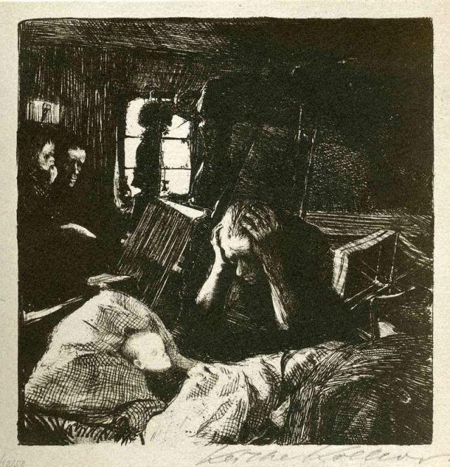 Кете Кольвиц. Нужда. 1893-1894