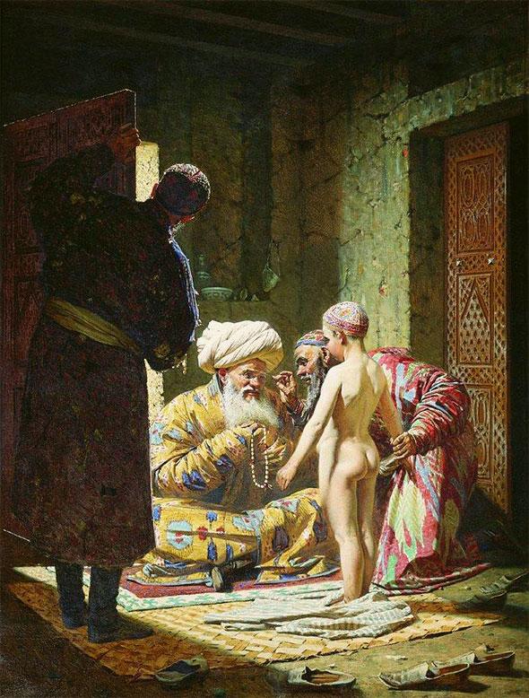 Василий Верещагин. Продажа ребенка-невольника в рабство.1872