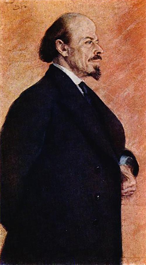 Сергей Малютин. Портрет М. В. Нестерова. 1913
