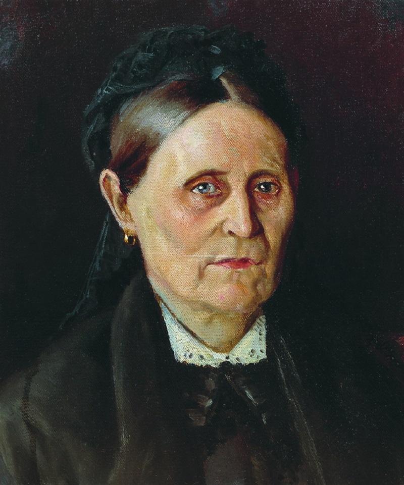 Михаил Нестеров. Портрет М. М. Нестеровой. Конец 1870-х
