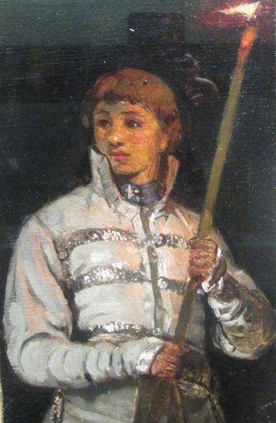 Михаил Нестеров. Юноша со свечой (фрагмент). 1885