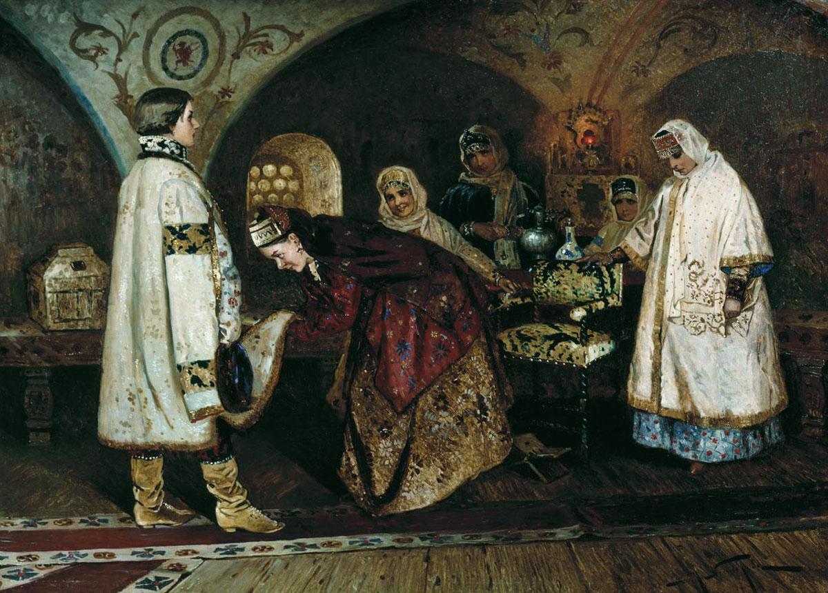 Михаил Нестеров. Встреча царя Алексея Михайловича с Марией Ильиничной Милославской