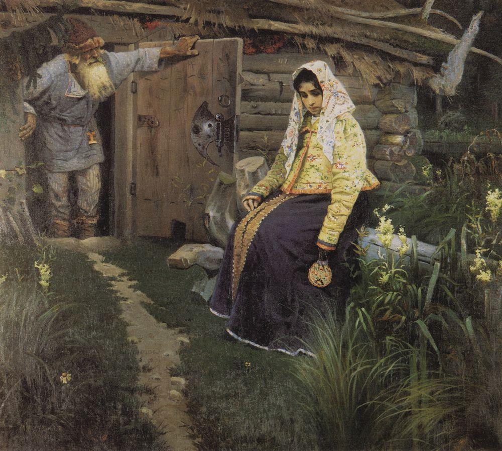 Михаил Нестеров. За приворотным зельем. 1888