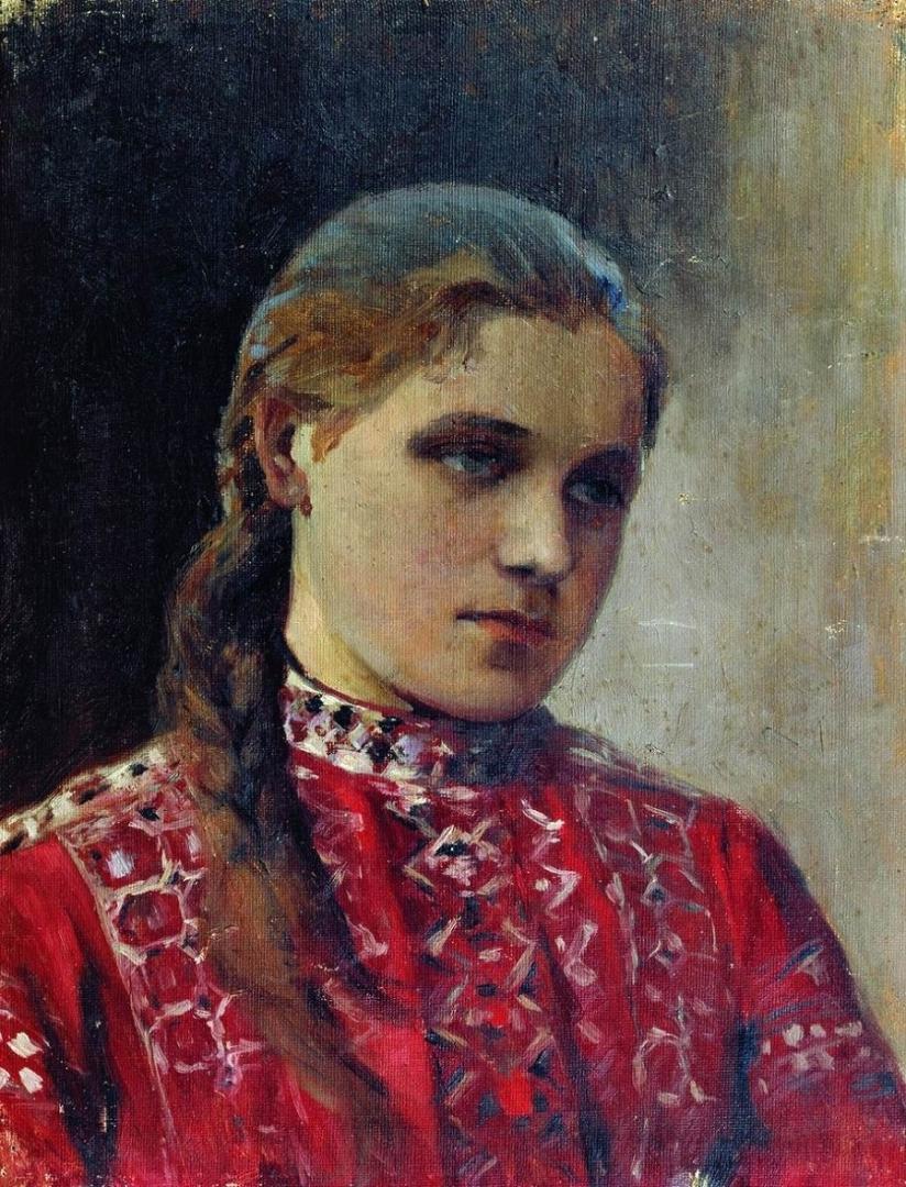 Михаил Нестеров. Портрет Марии Высоцкой. 1880-е