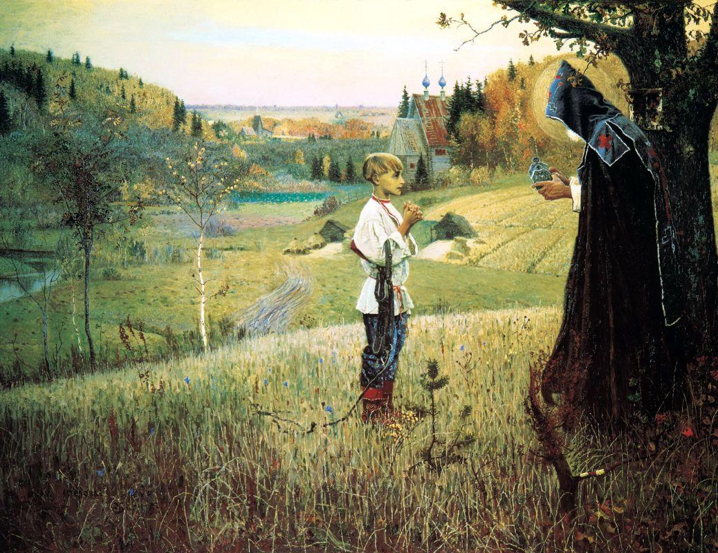 Михаил Нестеров. Видение отроку Варфоломею. 1889–1890