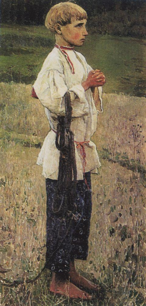 Михаил Нестеров. Отрок Варфоломей (этюд). 1889