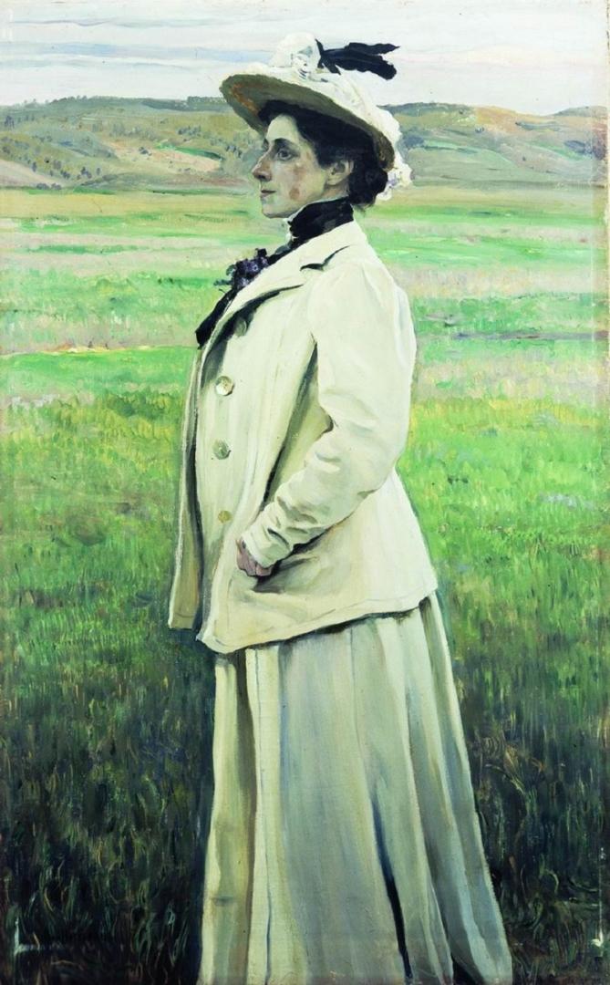 Михаил Нестеров. Портрет княгини Н. Г. Яшвиль. 1905