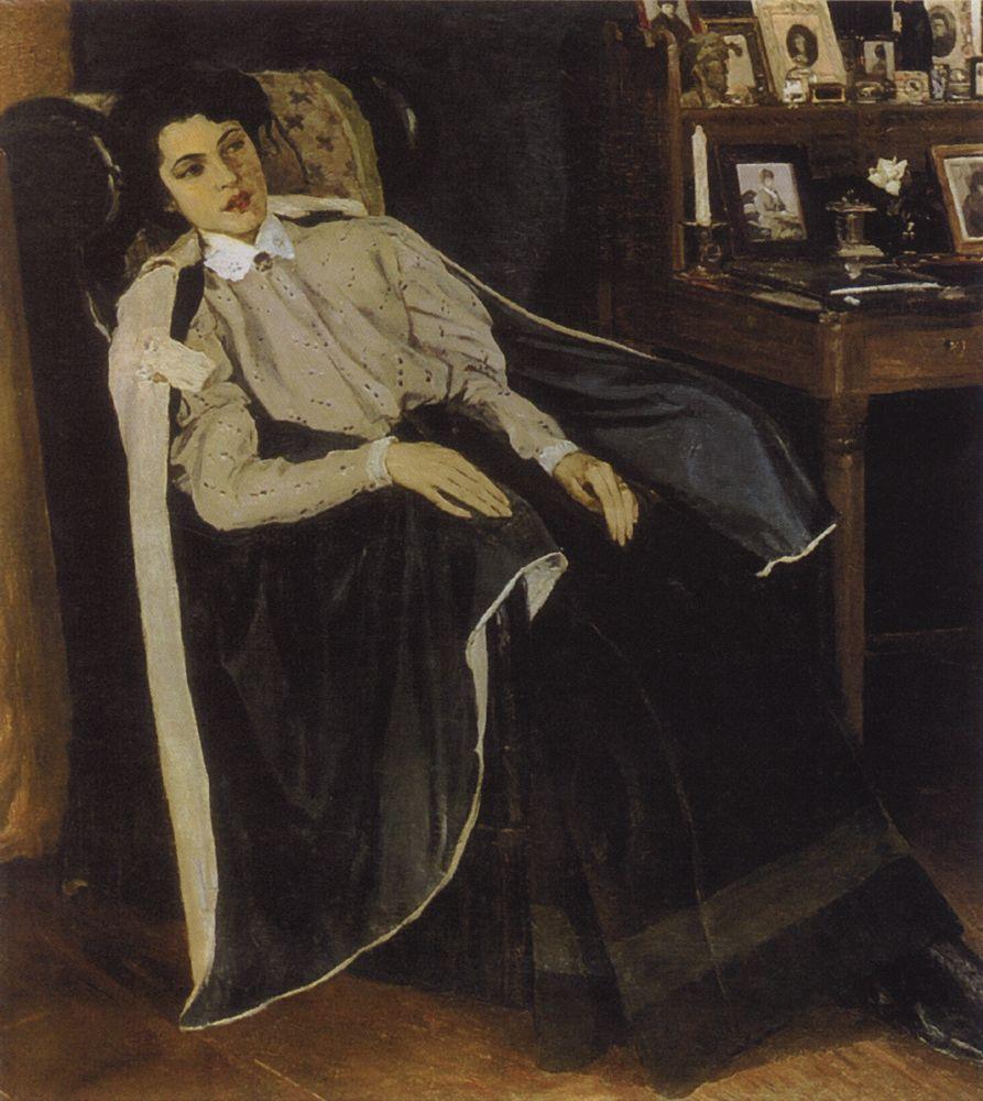 Михаил Нестеров. Портрет О. М. Нестеровой, дочери художника. 1905