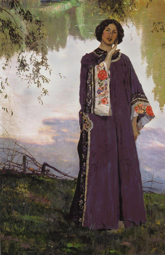 Михаил Нестеров. Портрет жены, Е. П. Нестеровой. 1906