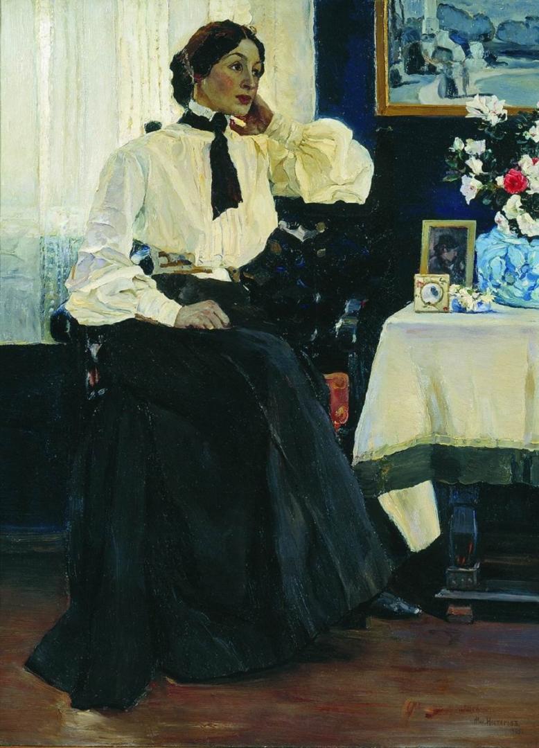 Михаил Нестеров. Портрет Е. П. Нестеровой, жены художника. 1905
