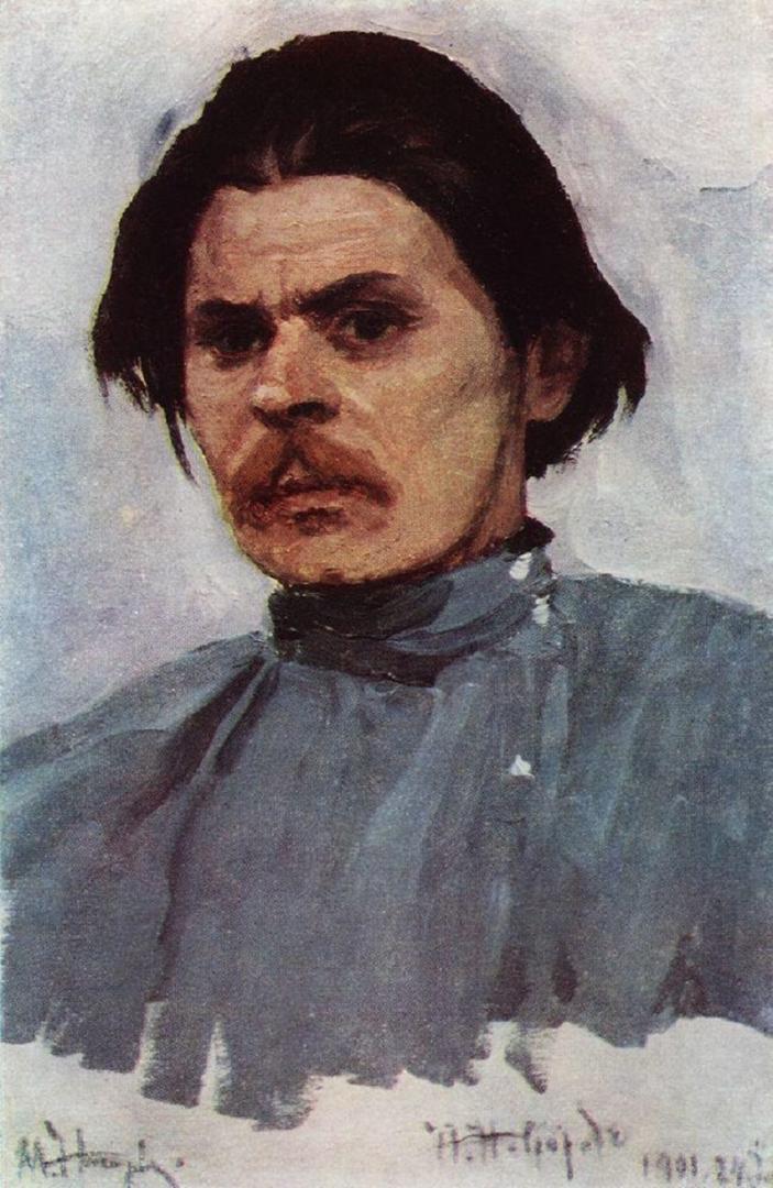 Михаил Нестеров. Портрет Максима Горького. 1907