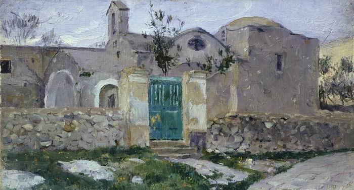 Михаил Нестеров. Капри. Вход в монастырь. 1908