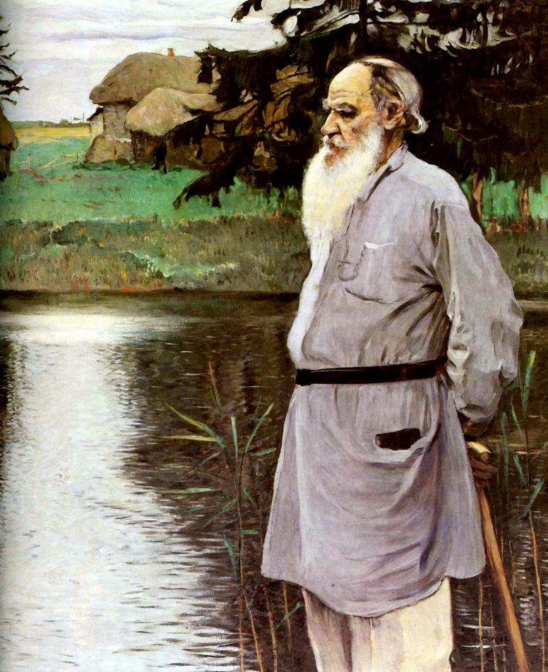Михаил Нестеров. Портрет Льва Николаевича Толстого. 1907