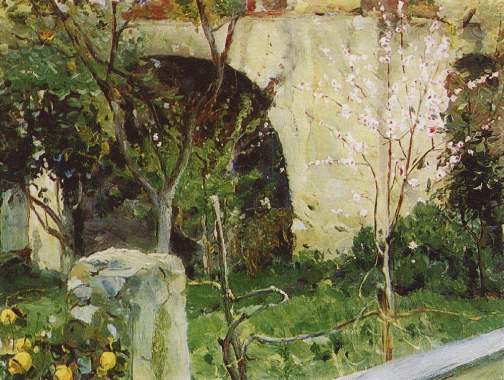 Михаил Нестеров. Капри. Веранда с цветами. 1908