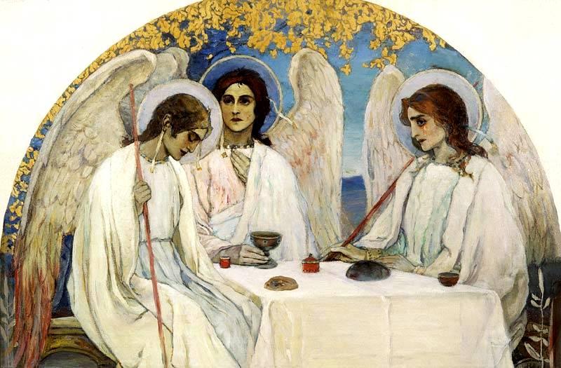 Михаил Нестеров. Троица Ветхозаветная. 1913–1914