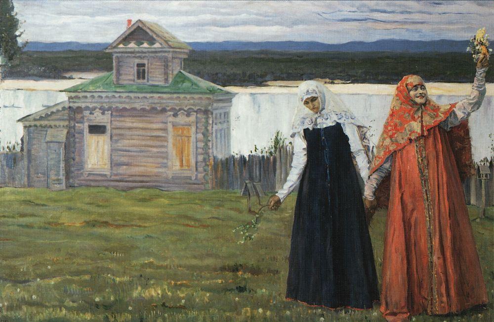 Михаил Нестеров. В скиту (Сестры). 1916