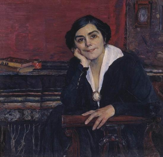 Михаил Нестеров. Портрет А. М. Щепкиной. 1925