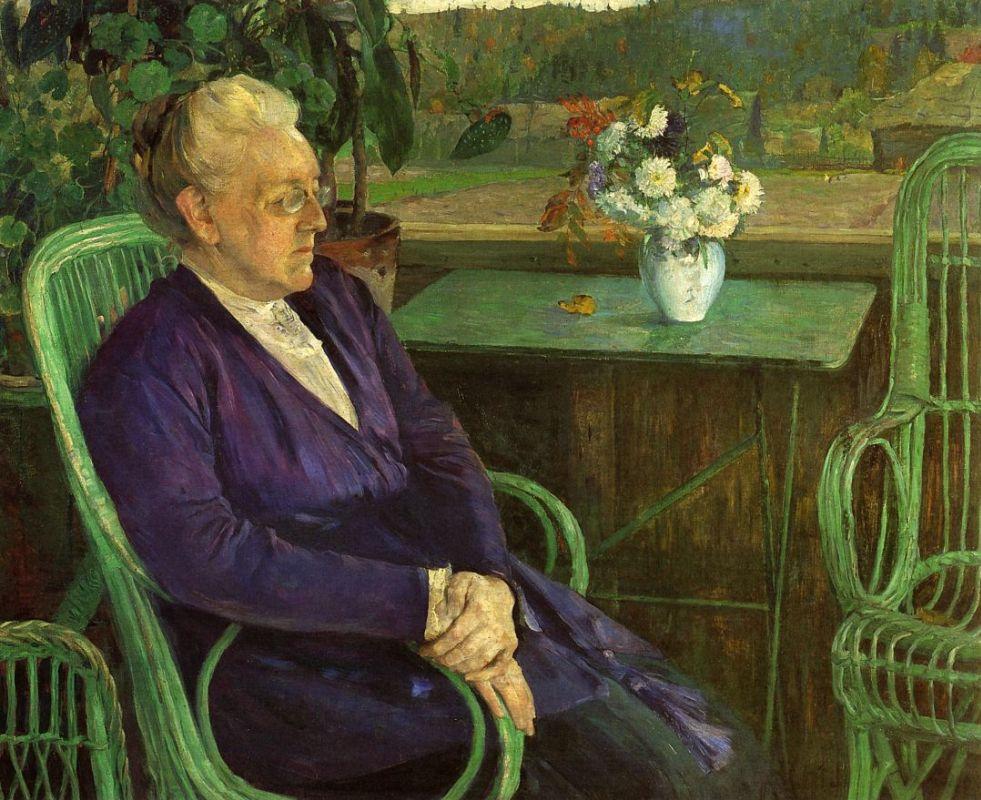 Михаил Нестеров. Портрет С. И. Тютчевой. 1927–1928