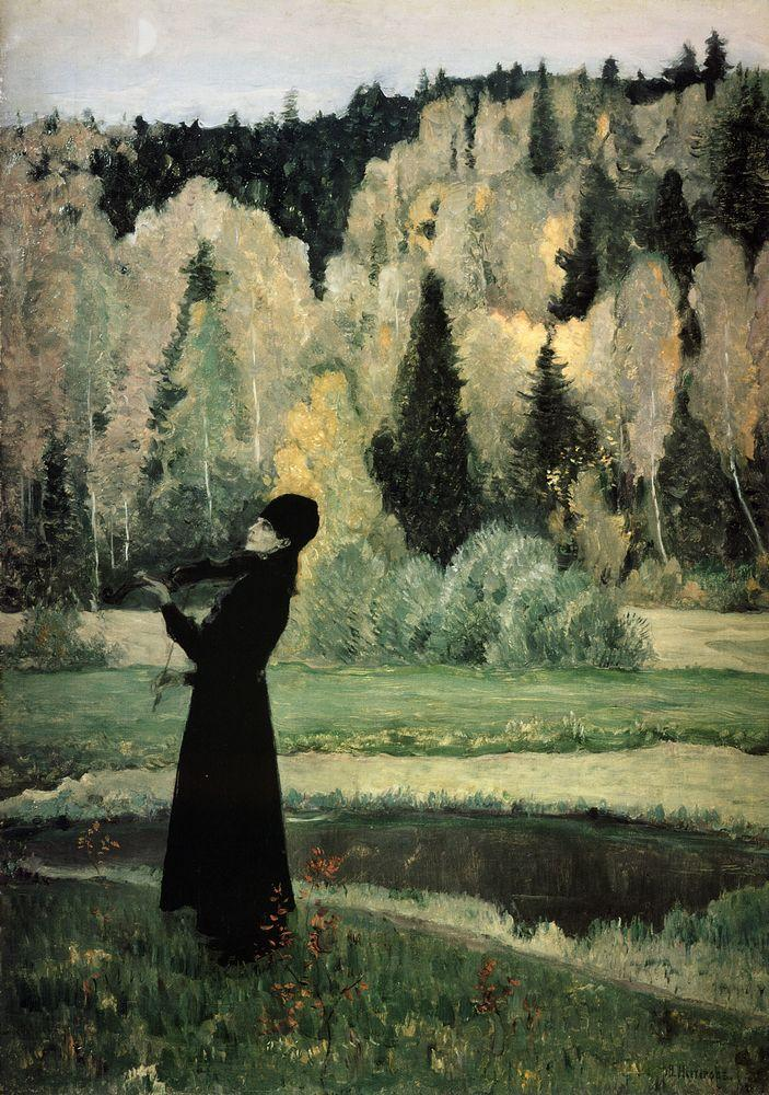 Михаил Нестеров. Элегия (Слепой музыкант). 1928