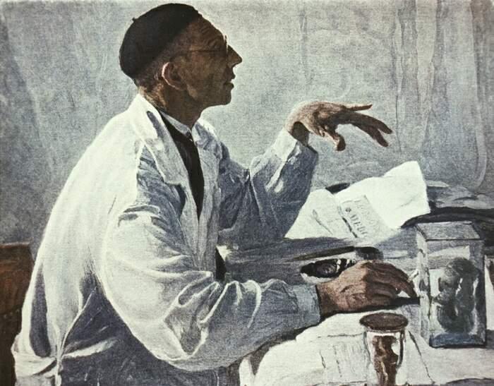 Михаил Нестеров. Портрет хирурга С. С. Юдина. 1933