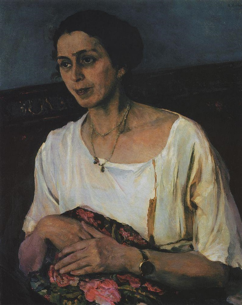 Михаил Нестеров. Портрет Е. П. Разумовой. 1936