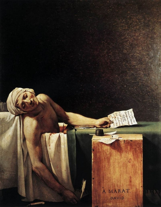 Жак-Луи Давид. Смерть Марата. 1794