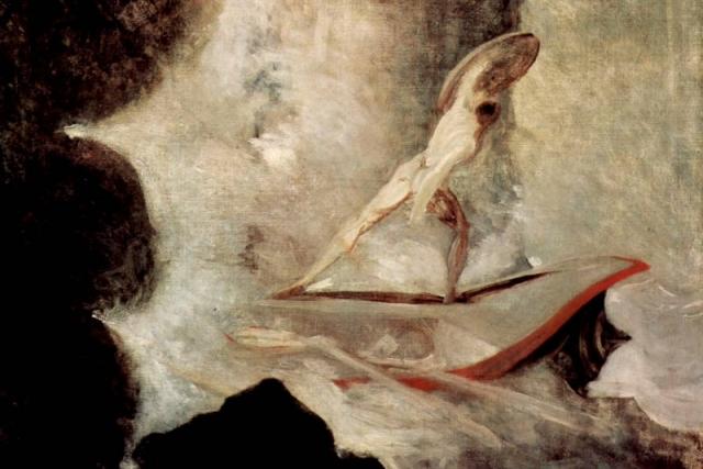 Иоганн Генрих Фюссли. Одиссей перед Сциллой и Харибдой (фрагмент). 1794-1796