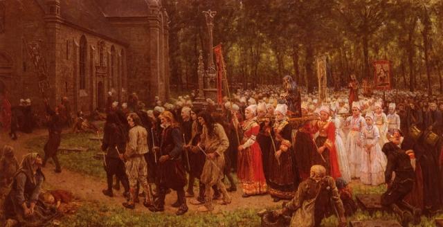 Жюль Адольф Эме Луи Бретон. Помилование Керго. 1891