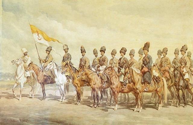 Юлиуш Коссак. Донские казаки. 1877