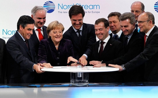 Церемония открытия газопровода «Северный поток». 2011