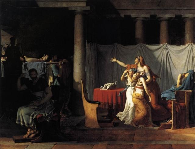 Жак Луи Давид. Ликторы приносят Бруту тела сыновей. 1789