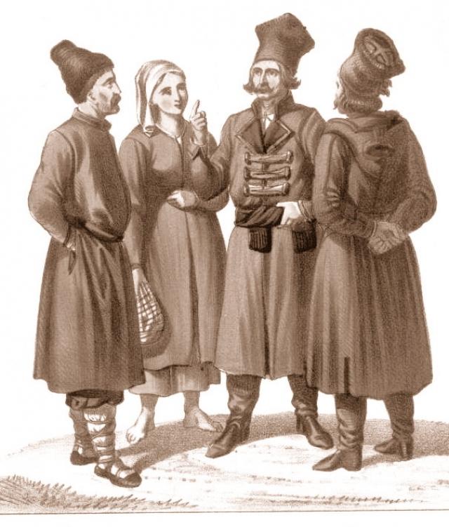 Галицкие русины, литография. 1863