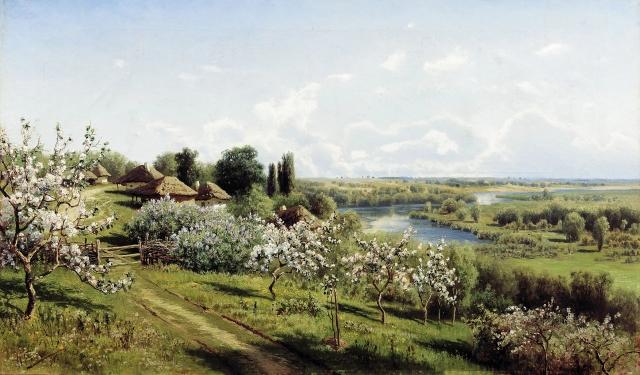 Николай Сергеев. Яблони в цвету. В Малороссии. 1895